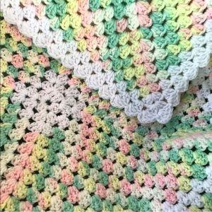 Handmade Crochet Baby Blanket Afghan Pastels